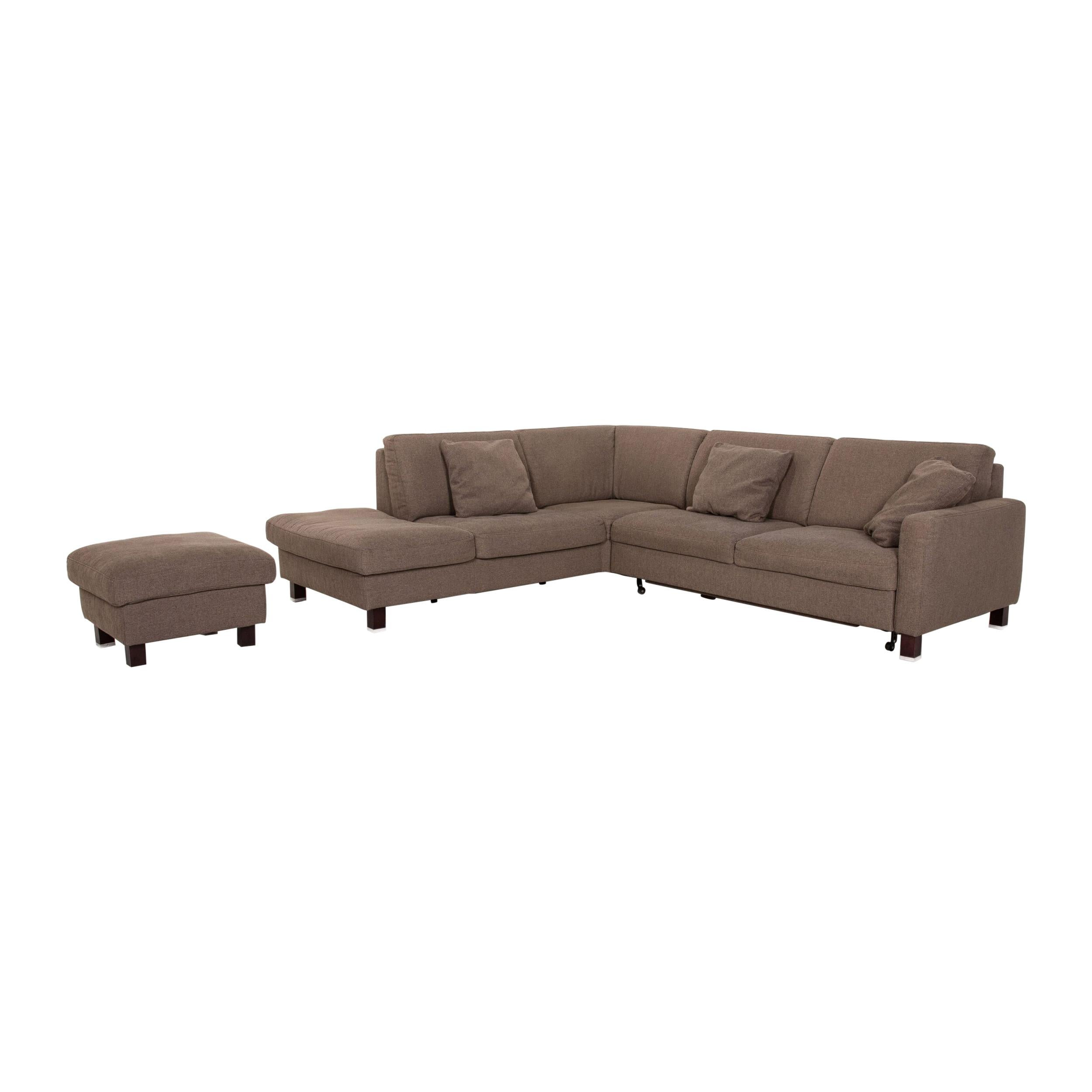 Ewald Schillig Fabric Sofa Set Gray Brown Function Sleeping Function Sofa Bed