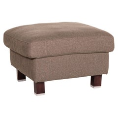 Ewald Schillig Fabric Stool Gray-Brown