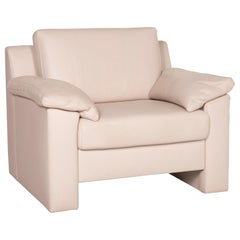 Ewald Schillig Flex Plus Leather Armchair Cream