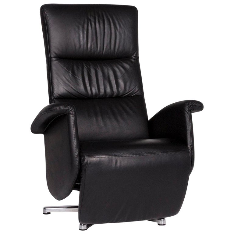 Ewald Schillig Leather Armchair Black Relaxing Relaxing ...