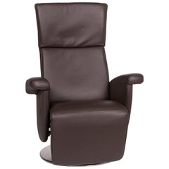 Ewald Schillig Leather Armchair Brown Electrical Function Relax Function