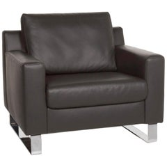 Ewald Schillig Leather Armchair Gray