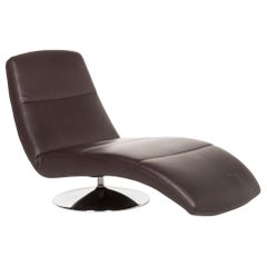 Ewald Schillig Leather Lounger Brown Dark Brown Relax Lounger Function Relax