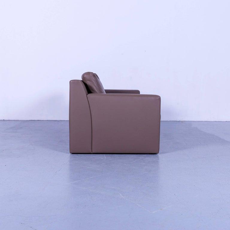 Ewald Schillig Leather Sofa Brown Three-Seat 5