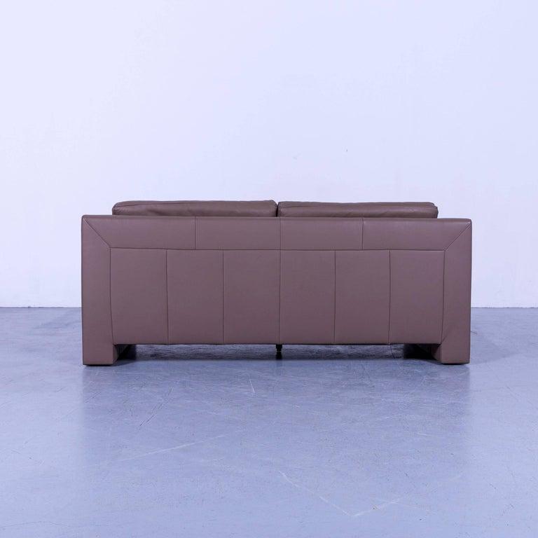 Ewald Schillig Leather Sofa Brown Three-Seat 6