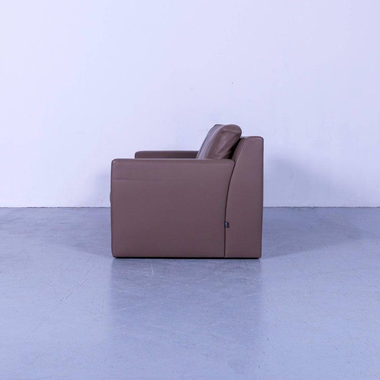 Ewald Schillig Leather Sofa Brown Three-Seat 7