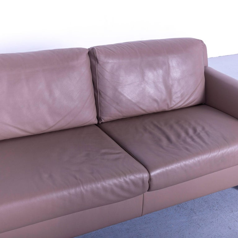 Ewald Schillig Leather Sofa Brown Three-Seat 1
