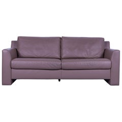 Ewald Schillig Leather Sofa Brown Three-Seat