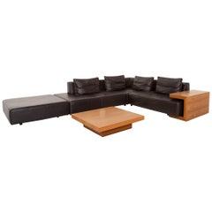 Ewald Schillig Leather Sofa Set Modular Brown Dark Brown 1 Corner Sofa 1