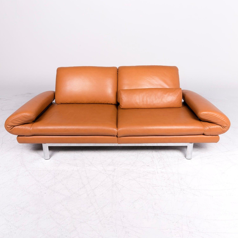 Amazing Ewald Schillig Quinn Designer Leather Sofa Orange Cognac Spiritservingveterans Wood Chair Design Ideas Spiritservingveteransorg