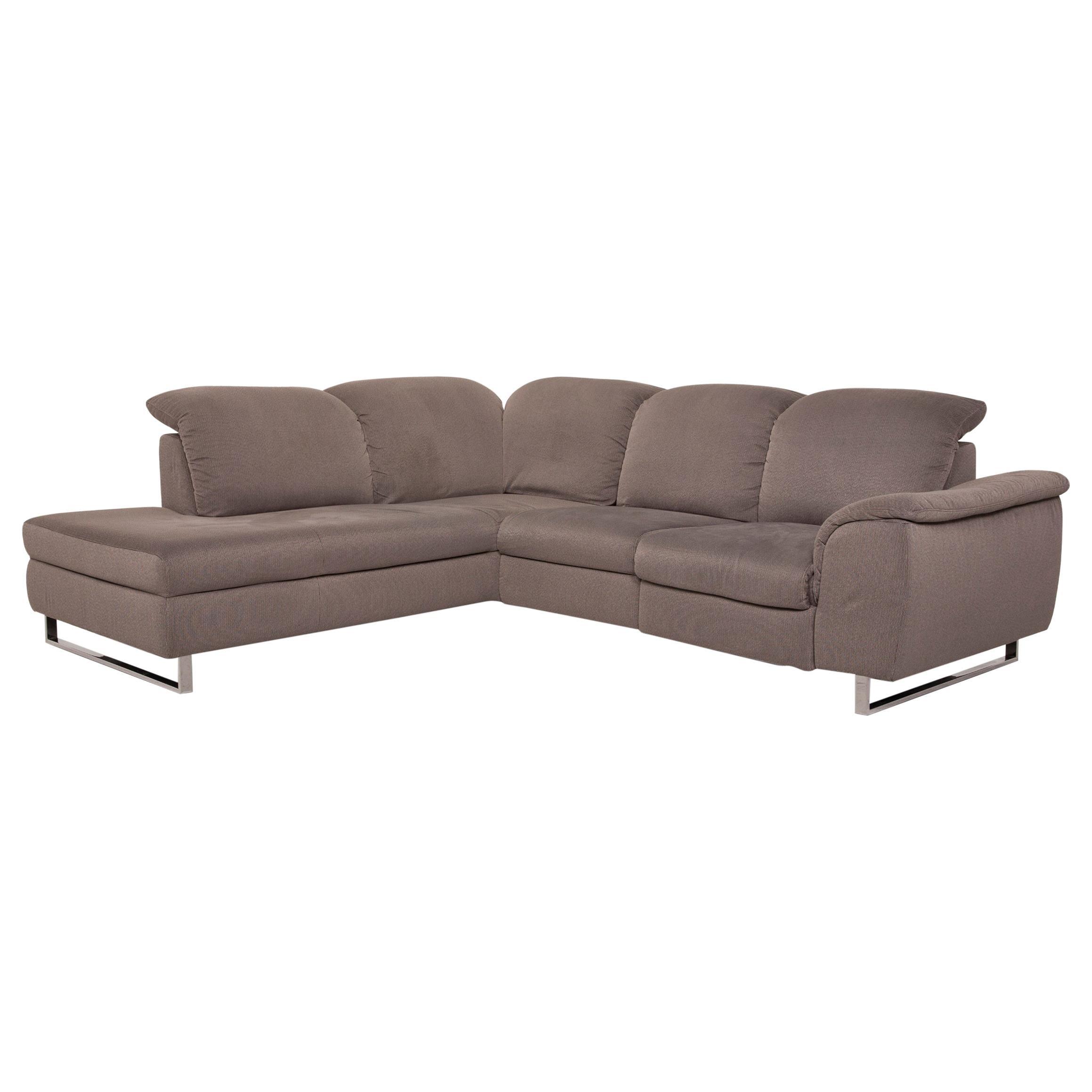 Ewald Schillig Sinaatra Fabric Sofa Gray Corner Sofa Electrical Function