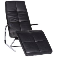 Ewald Schillig VITA Designer Leather Lounger Black Relax Function