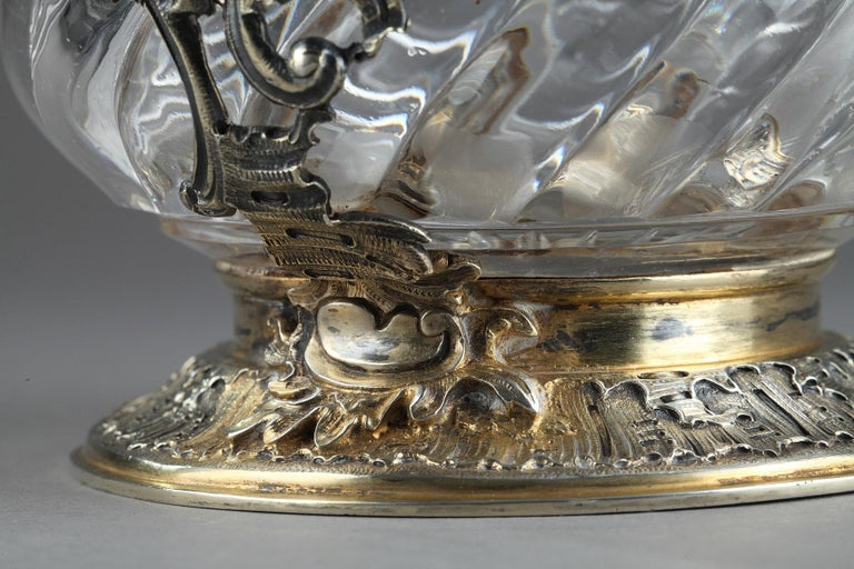 Ewer in Silver and Crystal, Late 19th Century For Sale 5