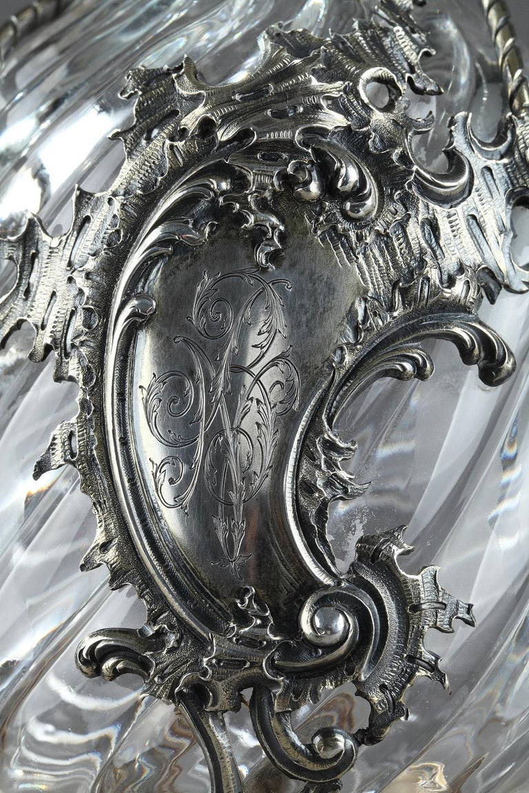 Ewer in Silver and Crystal, Late 19th Century For Sale 2