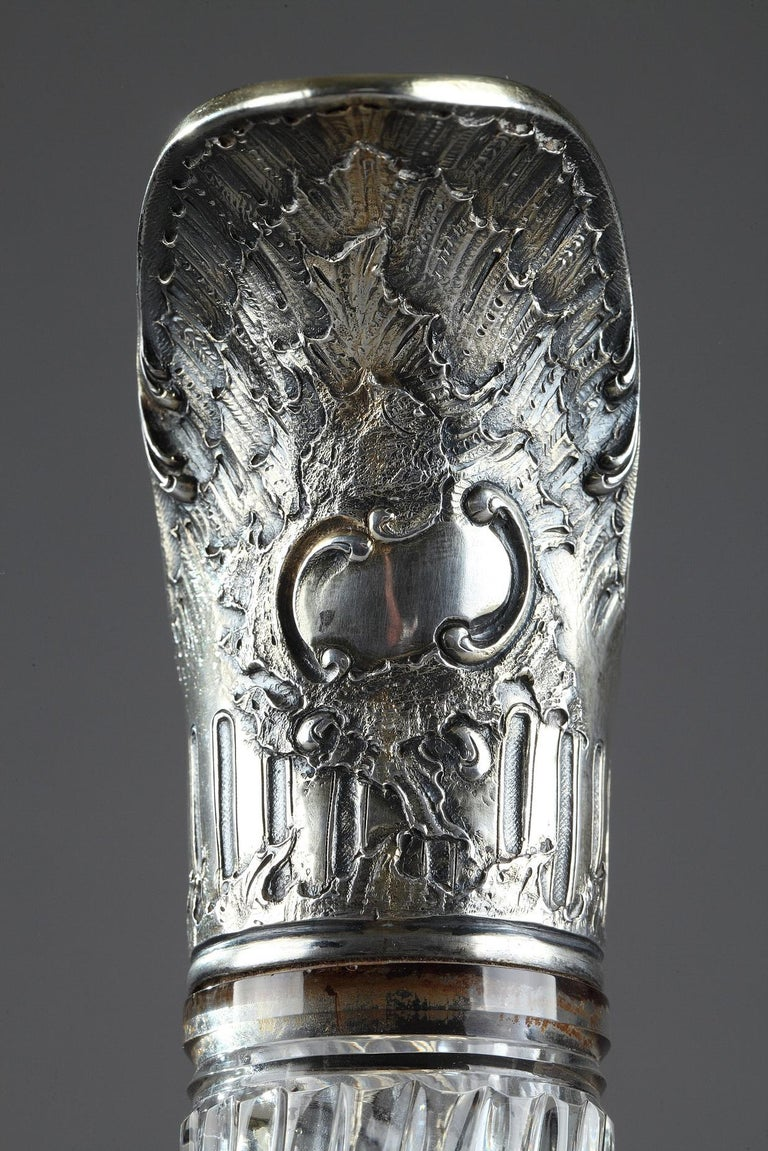 Ewer in Silver and Crystal, Late 19th Century For Sale 4