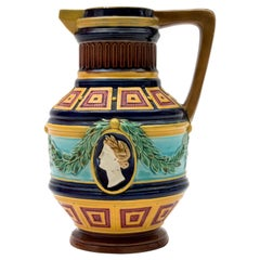 Ewer with an Antique Decor, Minton, Late 19th Century