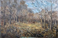 E.W.H. Smith - 1978 Oil, Stag in a Woodland Clearing