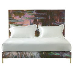 Ex-Display Savoir Harlech with Claude Monet's Water-Lilies and Nº4 King Bed Set