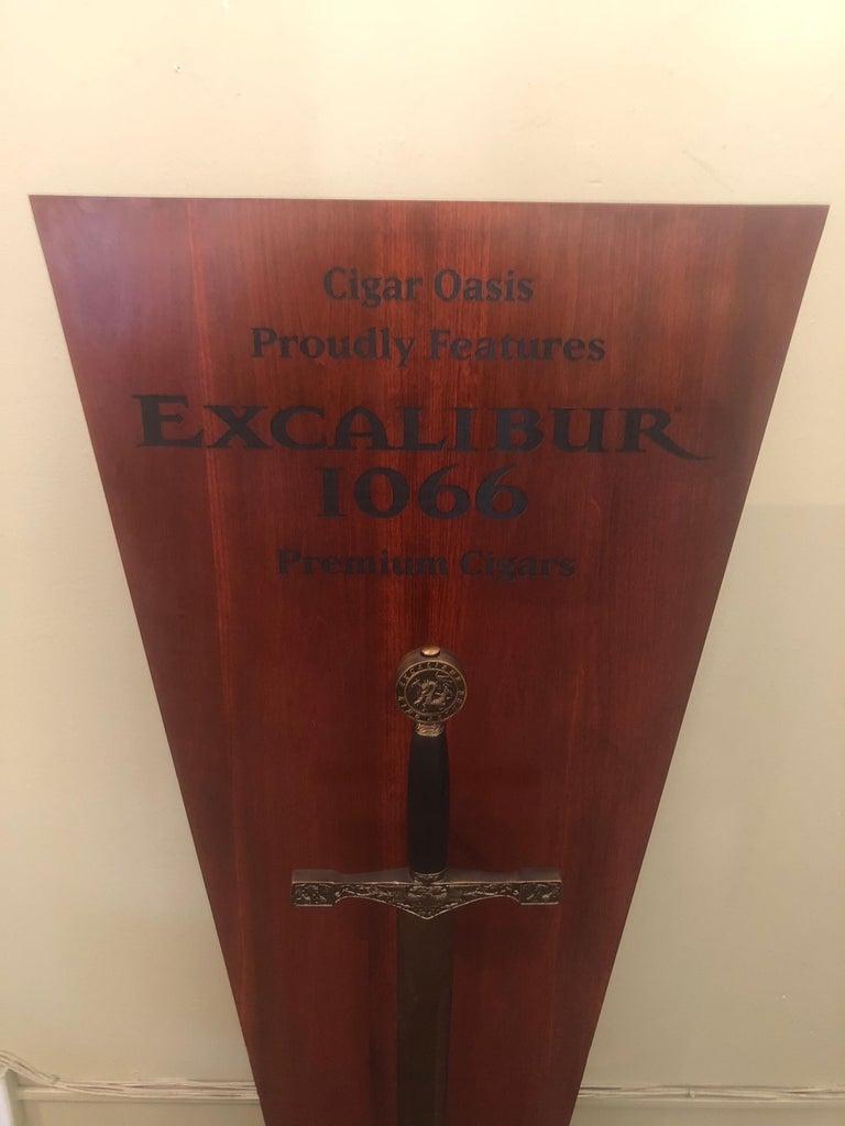 Plastic Excalibur Cigar Store Display