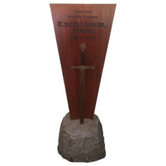 """Excalibur Cigar Store Display """"Sword in the Stone"""""""