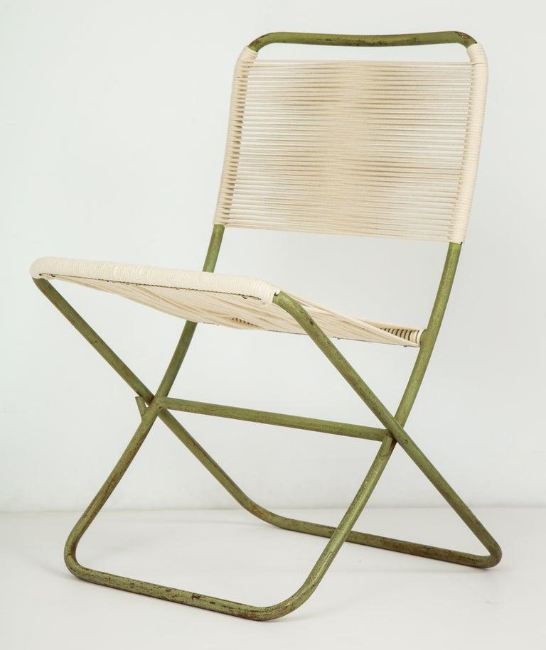 Exceedingly Rare Greta Grossman Folding Chairs For Sale 4