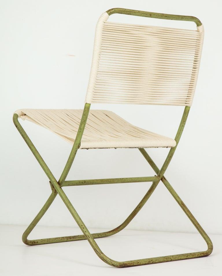 Exceedingly Rare Greta Grossman Folding Chairs For Sale 5