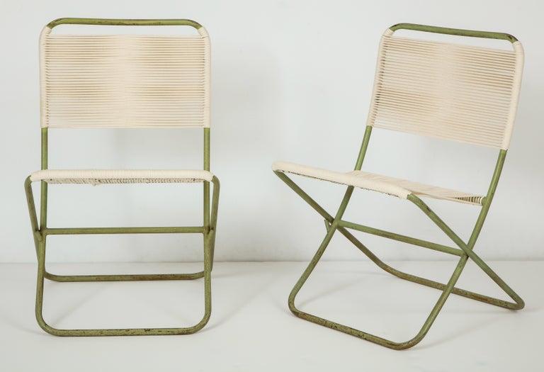 Mid-Century Modern Exceedingly Rare Greta Grossman Folding Chairs For Sale