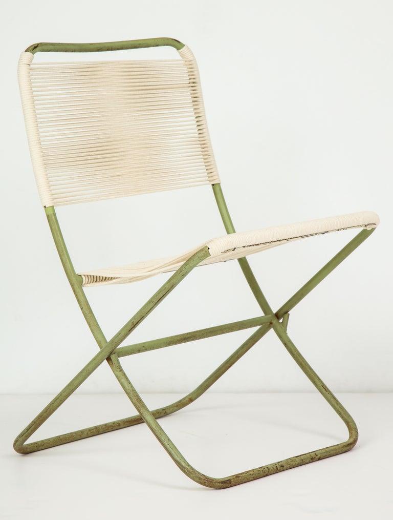 American Exceedingly Rare Greta Grossman Folding Chairs For Sale