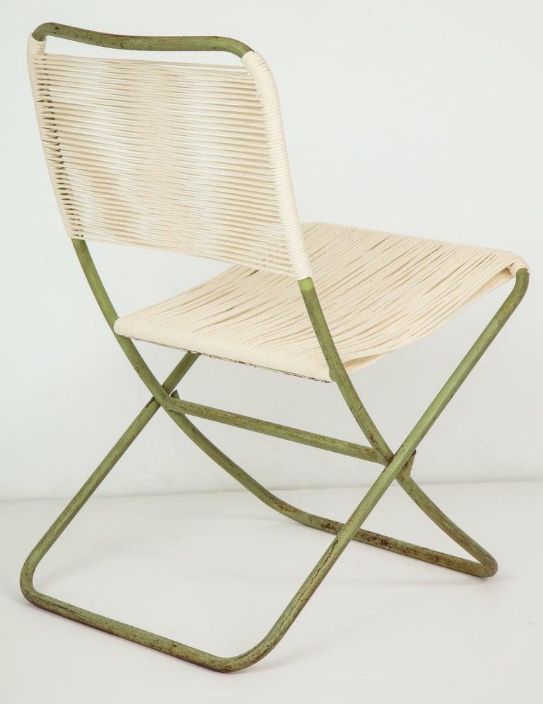 Mid-20th Century Exceedingly Rare Greta Grossman Folding Chairs For Sale