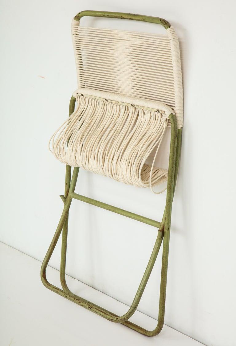 Exceedingly Rare Greta Grossman Folding Chairs For Sale 1
