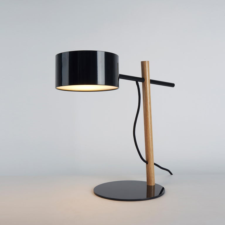 Excel Desk Lamp In Red And Oak By Rich Brilliant Willing