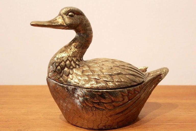 Belgian Excellent Brass 'Duck' Ice Bucket, Belgium, 1970s For Sale