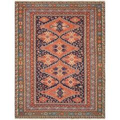Mid-20th Century Handwoven Asian Wool Kilim Carpet