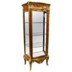 Excellent Late 19th Century Gilt Bronze Mounted Vitrine by Joseph Zwiener