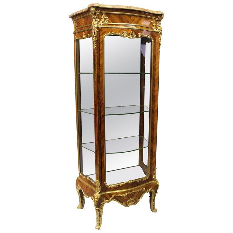 Excellent Late 19th Century Gilt Bronze Mounted Vitrine by Joseph Zwiener For Sale