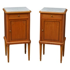 Excellent Pair of Satinwood Bedside Cupboards