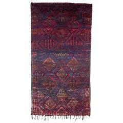 Excellent Vintage Moroccan Beni Mguild Rug