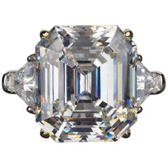 Exceptional 10 Carat GIA Certified Square Emerald Cut Diamond
