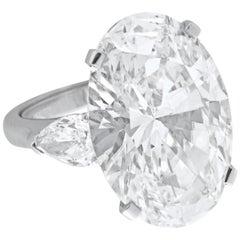 GIA Certified 5.75 Carat Oval Diamond Triple Excellent Cut