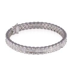 Exceptional 15 Carat Diamond and 18 Karat White Gold Bracelet, G/H, VVS1
