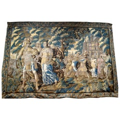 Exceptional 17th Century Flemish Verdure and Mythological Tapestry