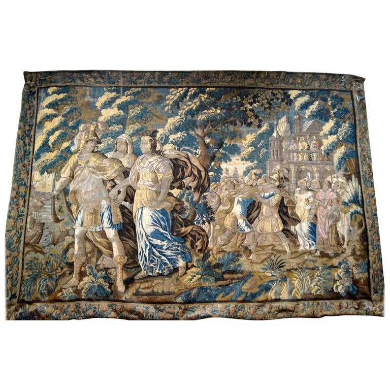 Exceptional 17th Century Flemish Verdure and Mythological Tapestry For Sale