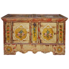 Exceptional 1801 Floral Painted Blanket Chest