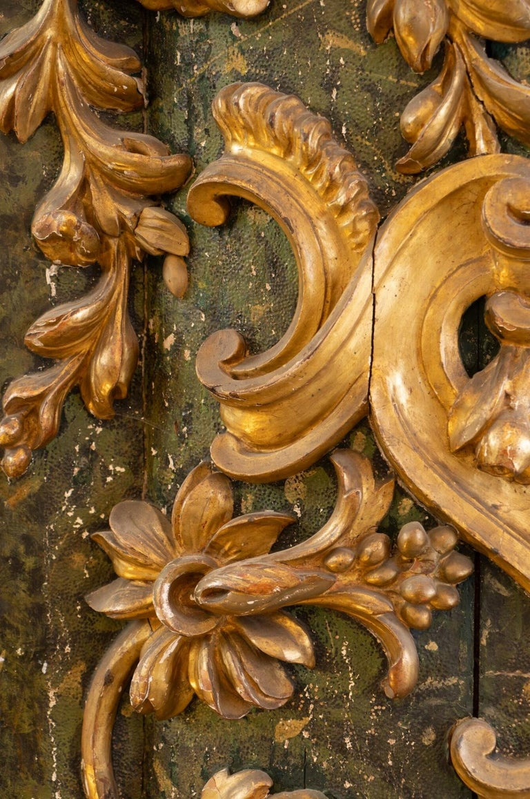 Louis XIV Exceptional 18th Century Carved Giltwood Door For Sale