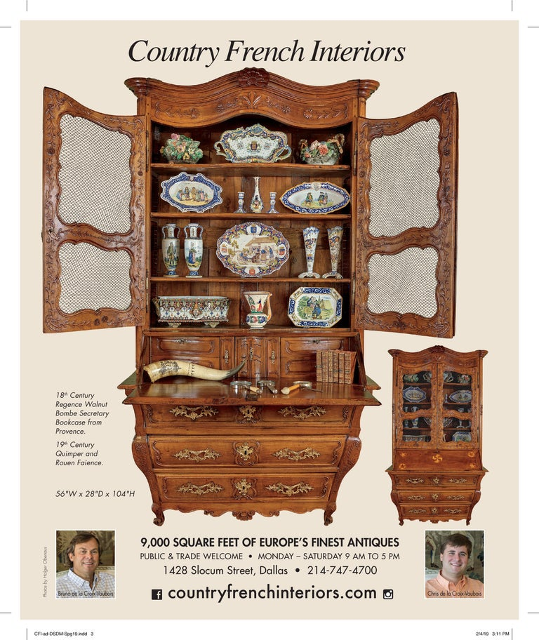 18th Century French Louis XV Carved Walnut Bombe Secretary Bookcase For Sale 15