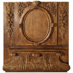 Exceptional 18th Century Oak Boiserie Panel from Chateau Saint-Maclou, Normandy