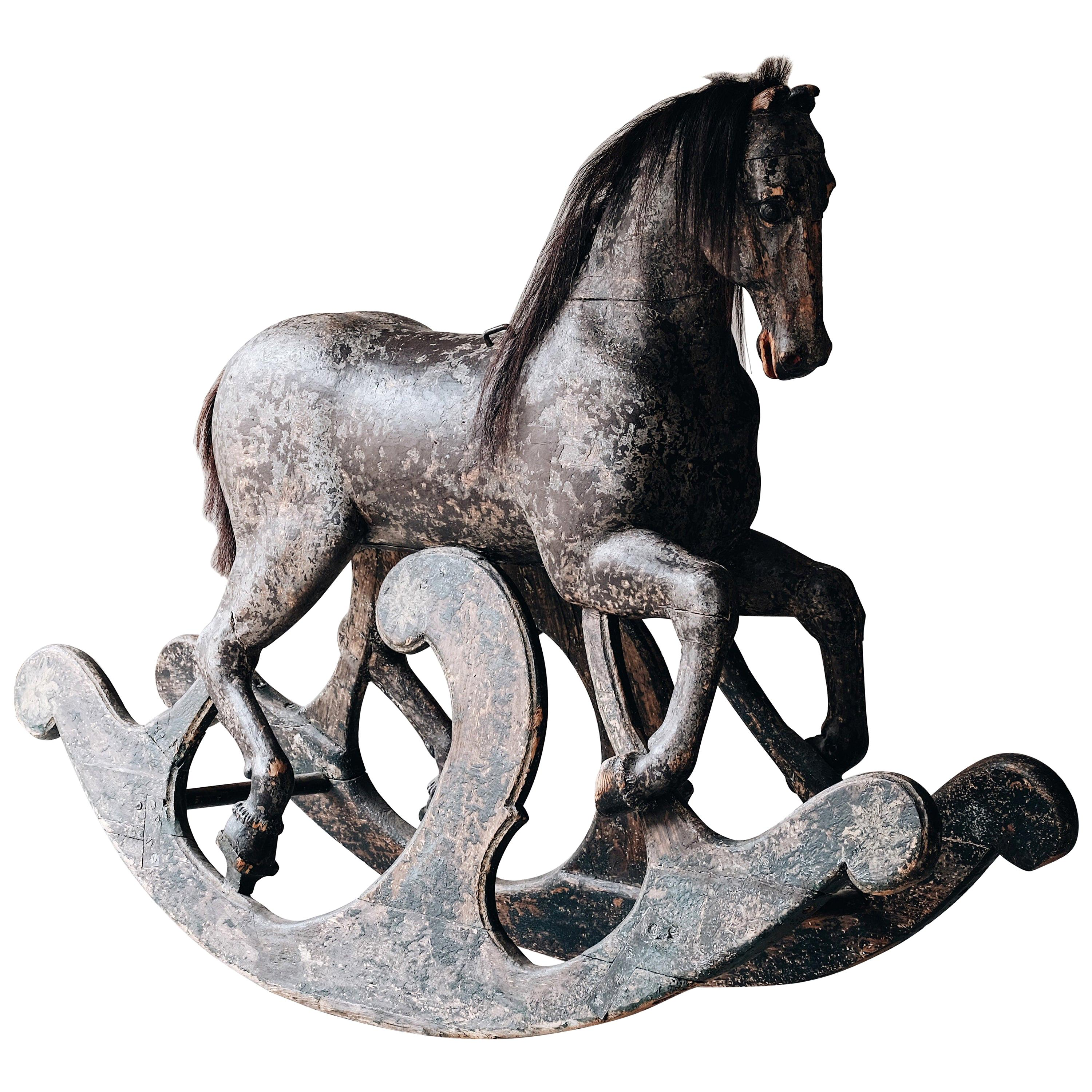 Exceptional 18th Century Rocking Horse