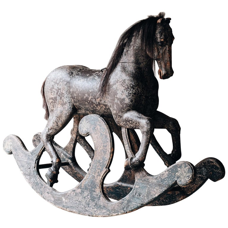 Swedish wooden rocking horse, ca. 1750