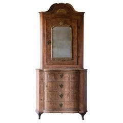Exceptional 18th Century Rococo Corner Cabinet