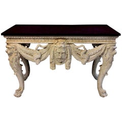 Exceptional 18th Century Style English Console Table with a Porphyry Top